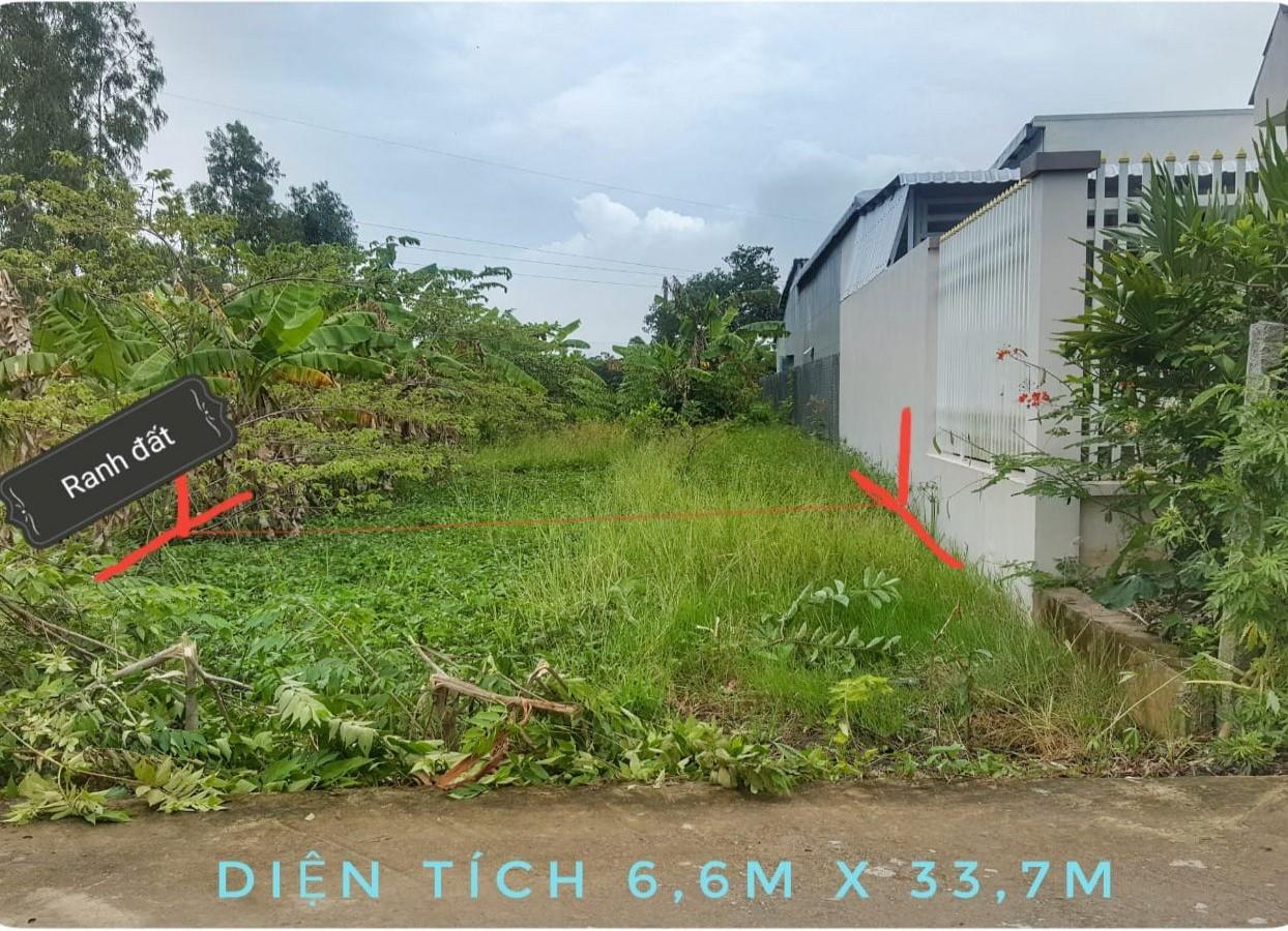 Đất nhánh Huỳnh Tấn Phát, diện tích rộng 6.60x33.70m