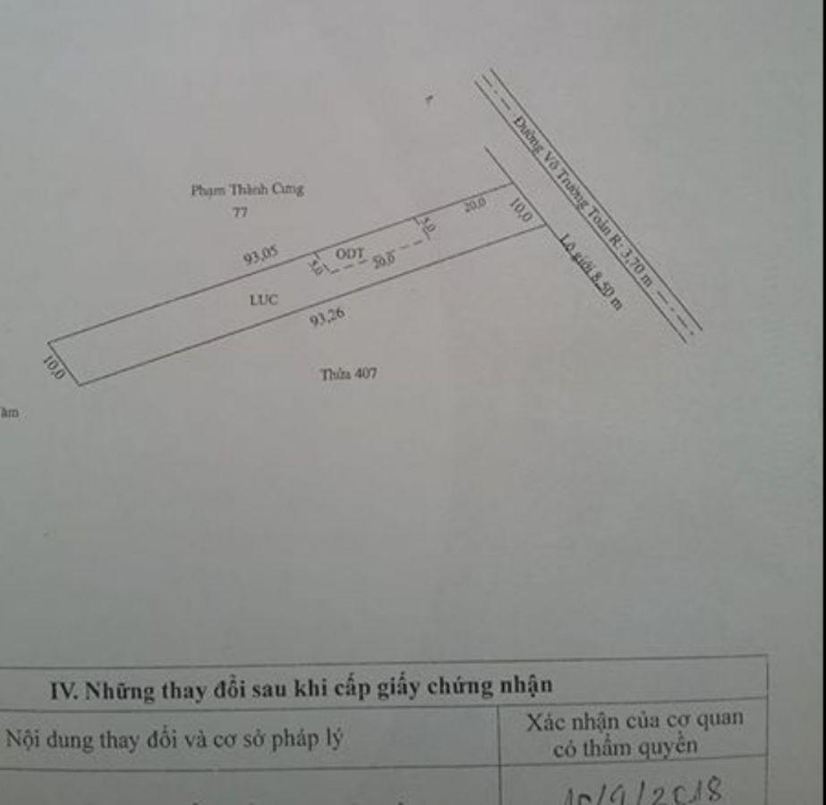 Bán đất mặt tiền đường Võ Trường Toản, Rạch Giá, Kiên Giang,0977336143