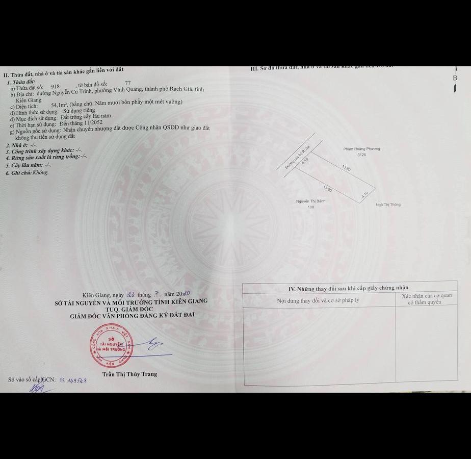 Do chuyển chỗ ở cần tìm chủ mới cho căn hộ nhỏ hẻm Nguyễn Cư Trinh, sau lưng Trường Mần Non Bình Minh, phường Vĩnh Quang