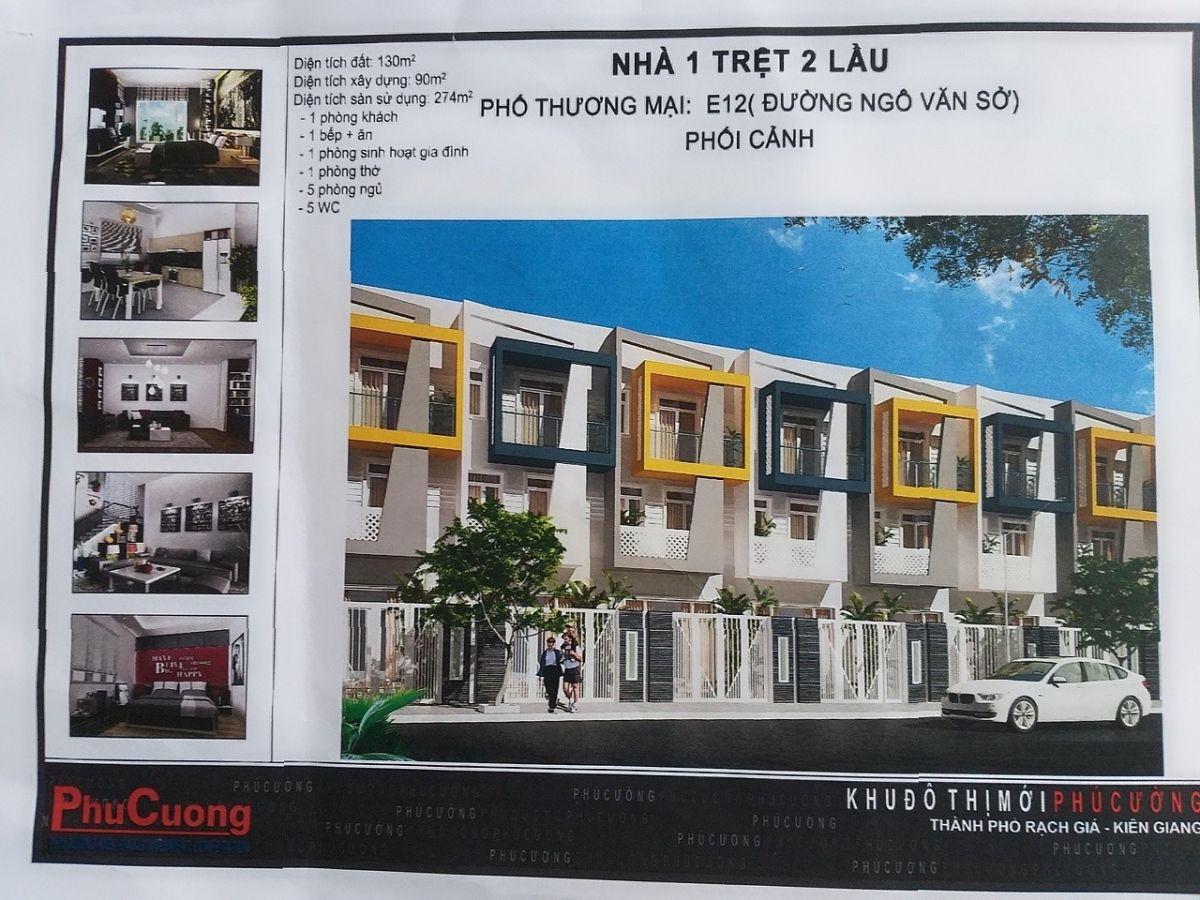 Bán căn nhà thô hoàn thiện mặt ngoài, giá chính chủ - Ngô Quang Hớn - khu đô thị phú cường.
