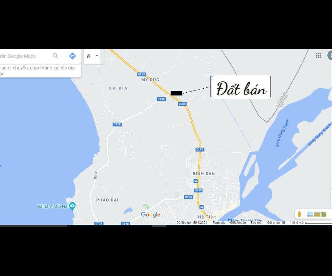 Bán 149m2 Mặt tiền ngã ba Quốc lộ 80 với đường Bà Lý, Mỹ Đức, Hà Tiên