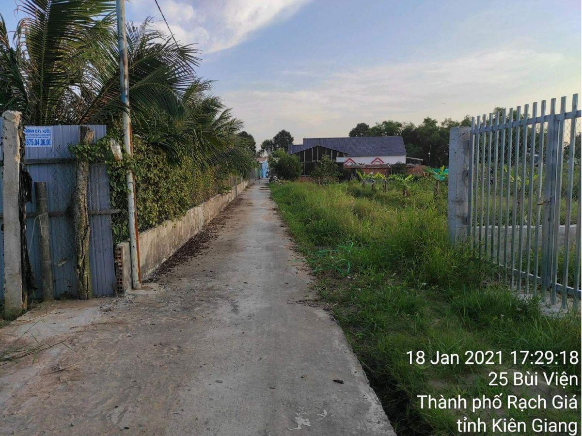 Bán đất trồng lúa 25 Bùi Viện, phường Vĩnh Lợi, TP Rạch Giá, Kiên Giang